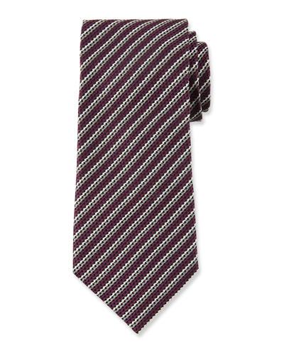 Men's Narrow Multi-Stripe Silk Tie