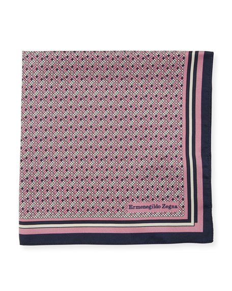 Ermenegildo Zegna Micro Pixel Silk Pocket Square