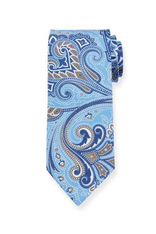 Boys Necktie Beige Tonal Pinstripe Fashion Designer Tie