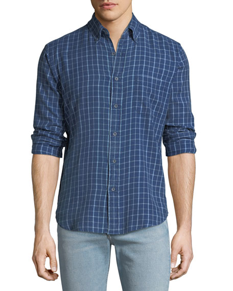 Faherty  Men's Ventura Grid-Print Sport Shirt