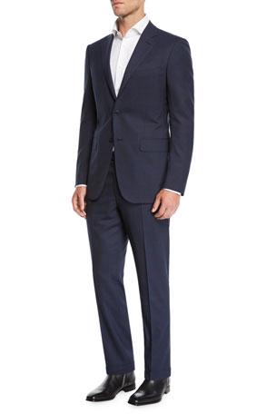 Ermenegildo Zegna Men's two-piece wool plaid suit