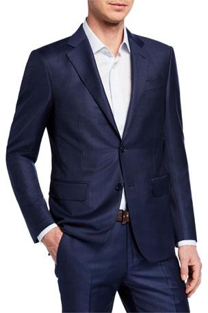 Ermenegildo Zegna Men's Tonal Windowpane Two-Piece Wool Suit