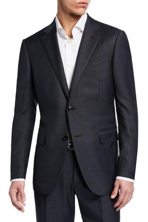 Ermenegildo Zegna Men's Tonal Stripe Two-Piece Wool/Silk Suit
