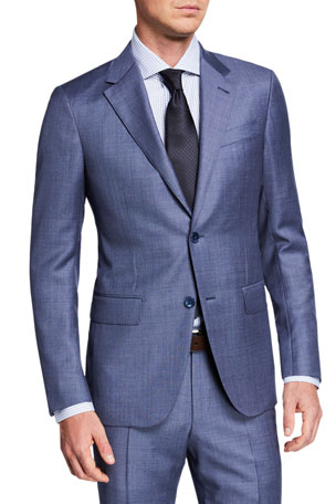 Ermenegildo Zegna Men's Sharkskin Two-Piece Suit