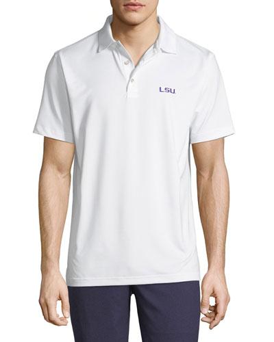 Men's LSU Solid Polo Shirt, White