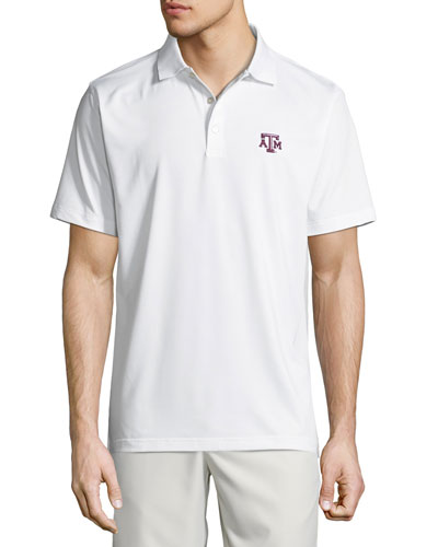 Men's Texas A&M Solid Stretch Jersey Polo Shirt, White