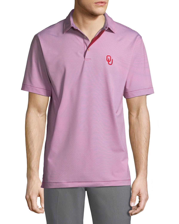 Peter Millar Mens Oklahoma University Jubilee Stripe Polo Shirt