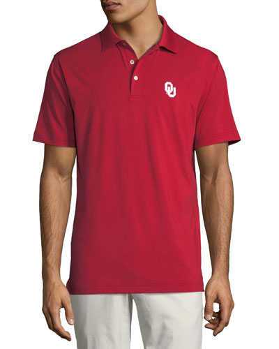 Men's Oklahoma University Solid Polo Shirt, Crimson