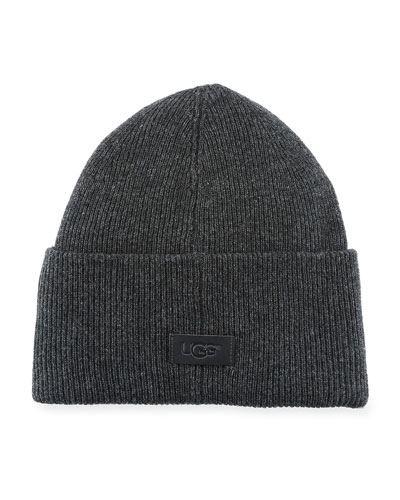 Men's High-Cuff Wool Beanie Hat