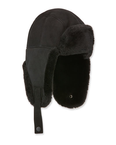Men's Shearling-Lined Sheepskin Trapper Hat