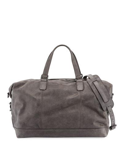 Men's Oliver Suede Overnight Bag