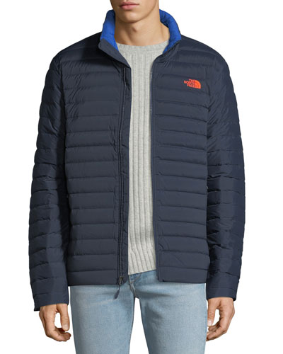 Men's Stretch Quilted-Down Water-Repellant Jacket