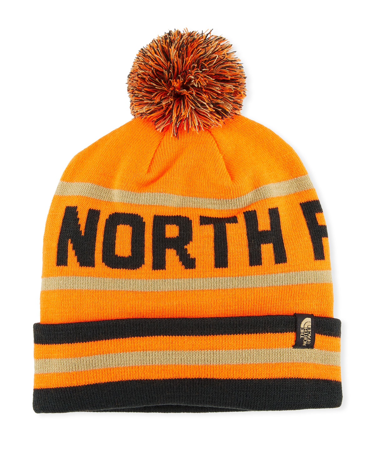 cc3b0ac82b0 The North Face Men s Logo Ski Toque Beanie Hat with Pompom