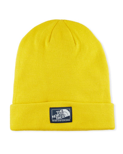 Men's Dock Worker Fold-Over Beanie, Yellow