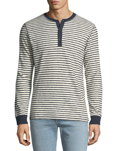 Men's Made & Crafted Striped Henley Shirt