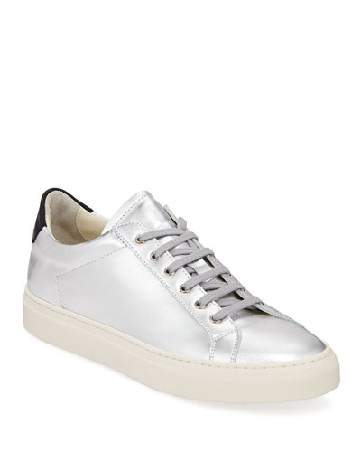 Men's Retro Low Metallic Leather Sneakers