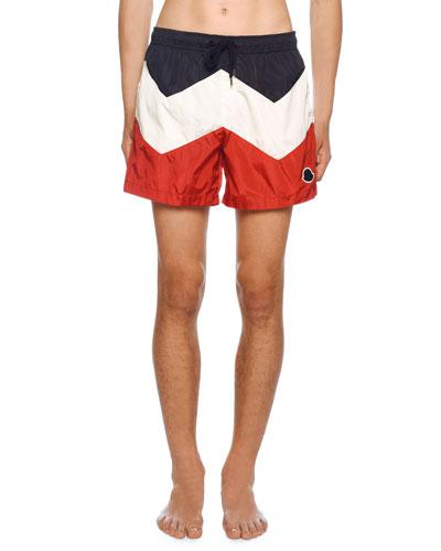 Men's Tricolor Swim Trunks