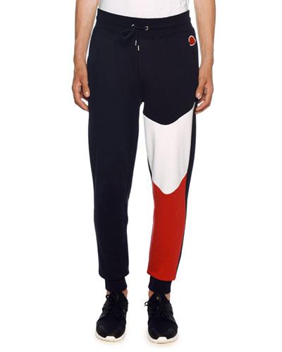 Men's Lounge Pants with Tricolor Detail