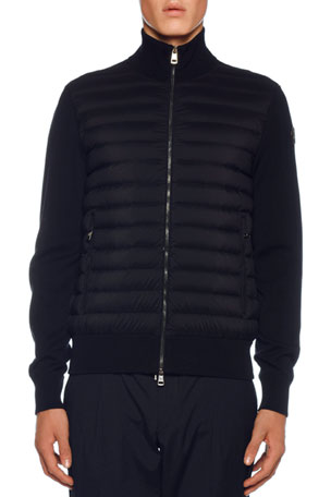 Moncler Men's Jersey Tricot Cardigan