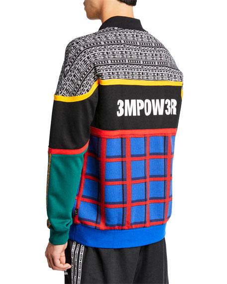 Adidas Men's x Pharrell Williams SOLARHU  Graphic Paneled Sweatshirt