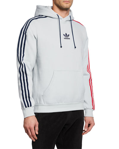 Men's Side-Stripes Pullover Hoodie
