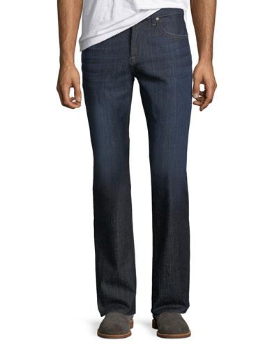 Brett Modern Boot-Cut Jeans, LA Dark
