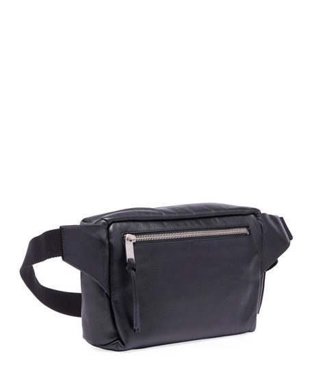 Saint Laurent Men S Ysl Marsupio Leather Belt Bag Neiman