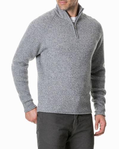 Men's Stredwick Half-Zip Wool Sweater