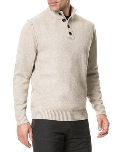 Men's Kent Terrace Button-Neck Sweater