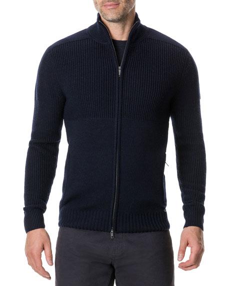 Rodd & Gunn Men's Kina Beach Zip-Front Merino Wool Sweater