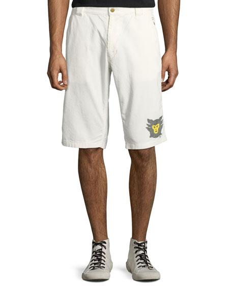 HUMAN MADE Men'S Corduroy Memorial Shorts in White