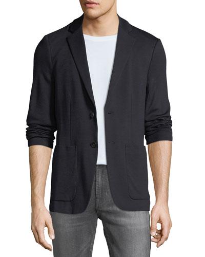 Men's Clinton Wool Interlock Jacket