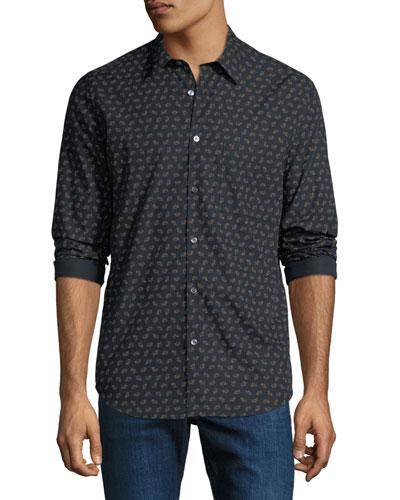 Men's Irving Crown Print Sport Shirt