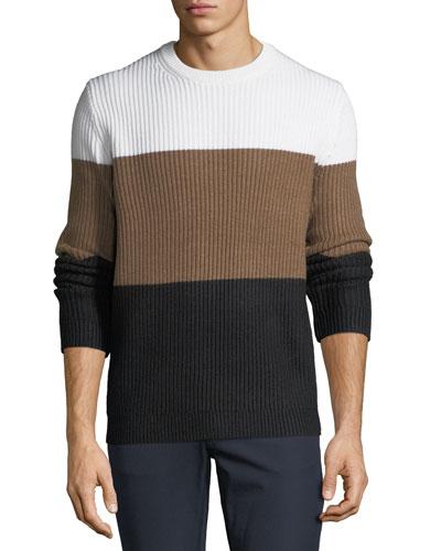 Men's Colorblock Wool Sweater