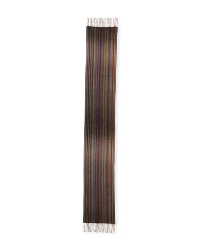 Men's Multi-Stripe Cashmere Scarf