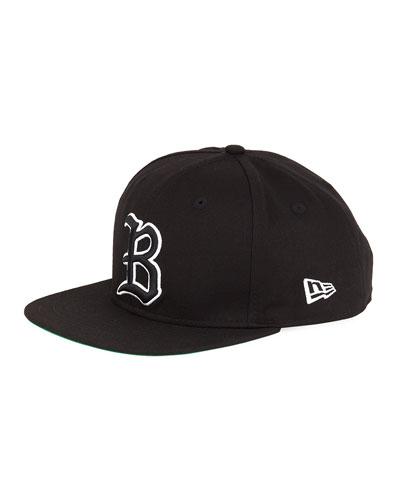 Men's Logo Snap-Back Hat, Black