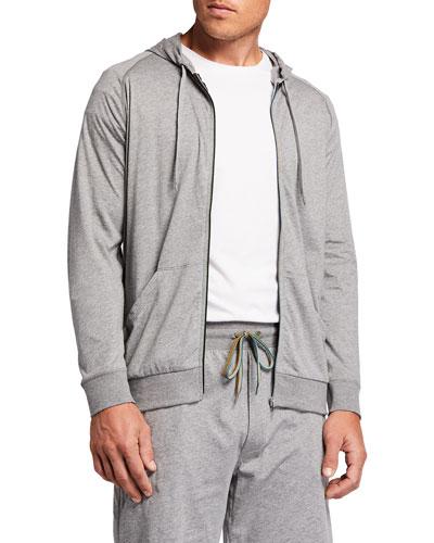 Men's Jersey Zip-Front Hoodie
