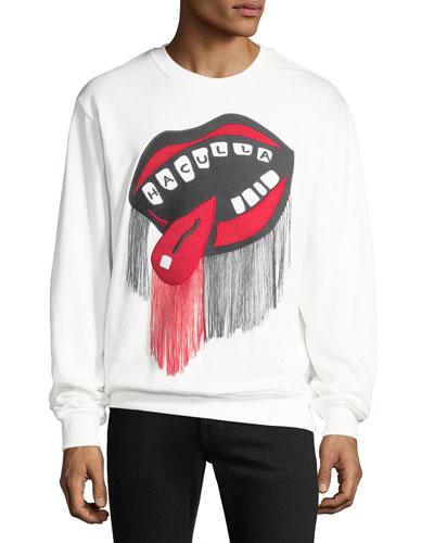 Men's NYC Drama Mouth Crewneck Sweater