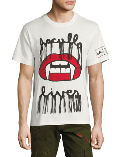 Men's Fanged Lips Graphic T-Shirt