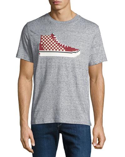 Men's High-Top Sneaker Graphic T-Shirt