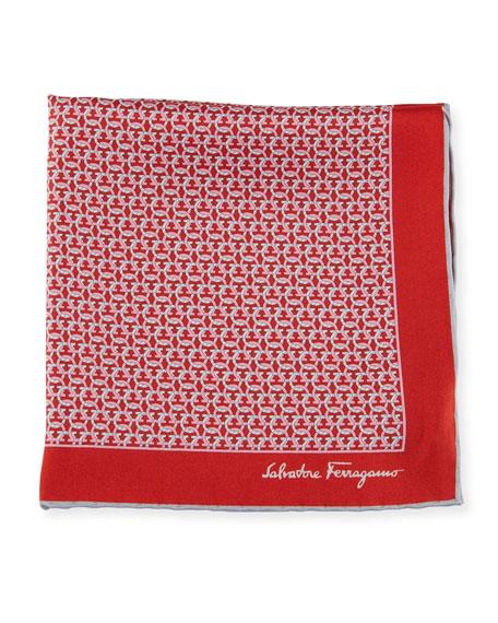 Salvatore Ferragamo Men's Allgancio Pocket Square, Red