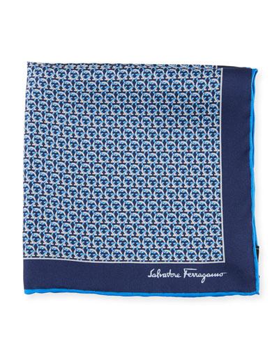 Men's Allgancio Pocket Square  Blue