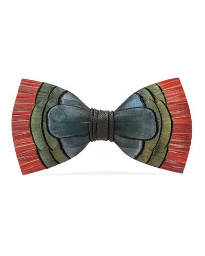 Brackish Bowties Hemingway Feather Formal Bow Tie