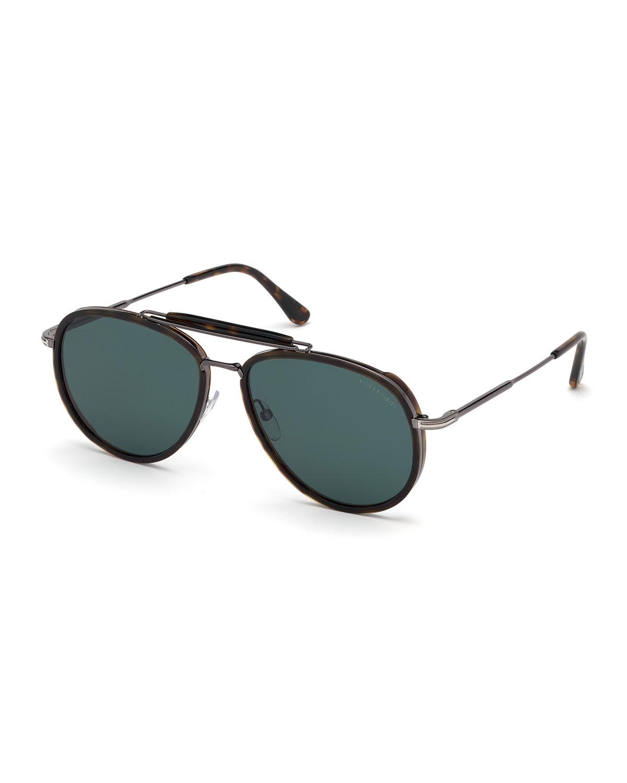 fa6a2d7503eed TOM FORD Men s Tripp Havana Aviator Sunglasses