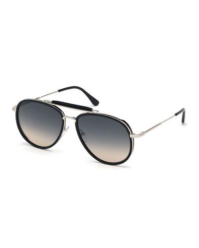 Men's Tripp Havana Aviator Sunglasses  Black/Gray