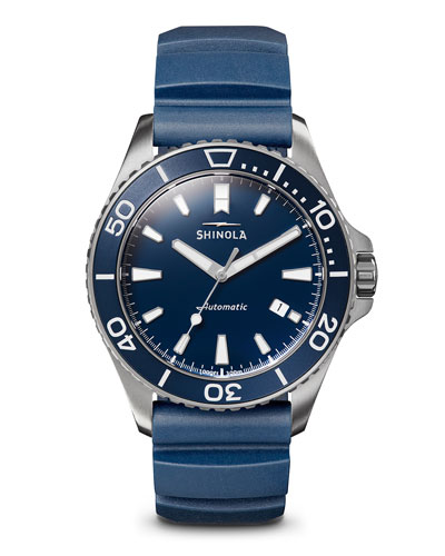 Men's 43mm Lake Michigan Watch w/ Rubber Strap