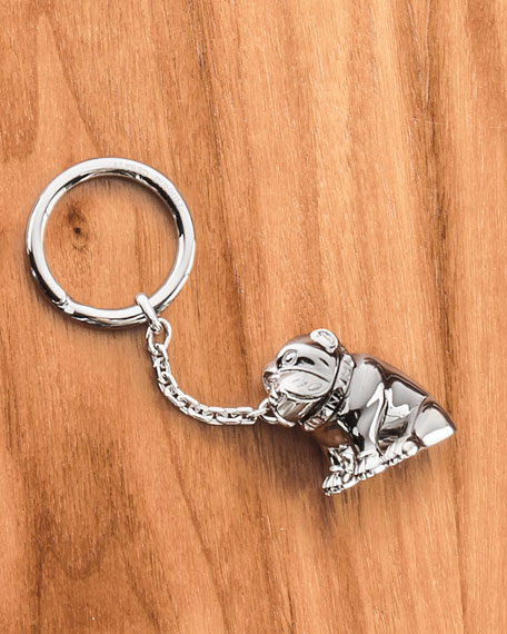 436907fa377 Image 2 of 2  dunhill Palladium-Plated Bulldog Key Chain with Rotating  Detail