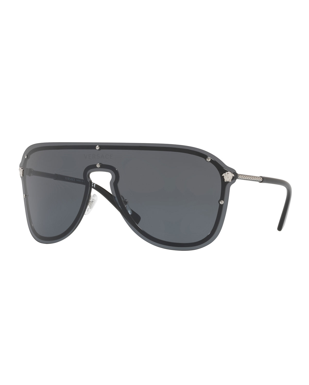 19f77743da4d Versace Men s Greek Key Shield Sunglasses