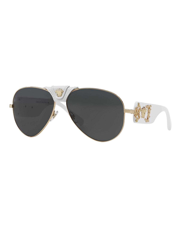 a3ff73b3f12 Versace Men s Medusa Aviator Sunglasses