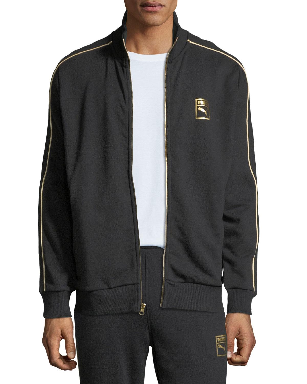 6cd81382e491 Puma Men s Chains T7 Zip-Front Track Jacket